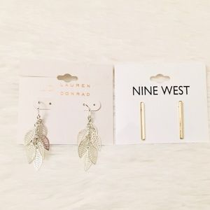 LC Lauren Conrad and Nine West Earrings